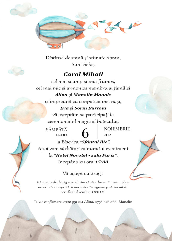 Invitatia Carol Mihail